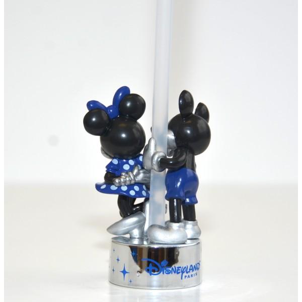 Disneyland Paris 25th Anniversary Bottle Cap Straw - Mickey and Minnie