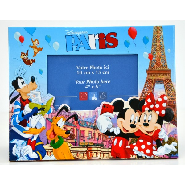 Disneyland Paris Mickey Minnie and friends in Paris Photo Frame