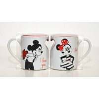 Mickey and Minnie Love Mug Set