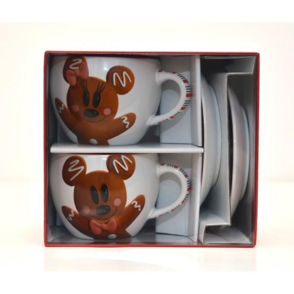 Disneyland Paris Joyeux Noel 2 coffee cups set
