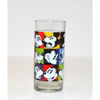 Disney Mickey Multi Coloured Drinking Glass