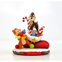 Chip and Dale Christmas Figurine