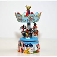 Disneyland Paris Mickey and Friends in Paris Carousel Music Box