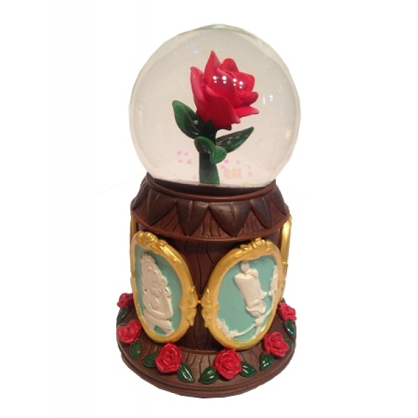 Disney Musical Snow Globe - Beauty and the Beast - Enchanted Rose