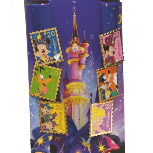 Disneyland Paris 20th Anniversary Deluxe Pin Set