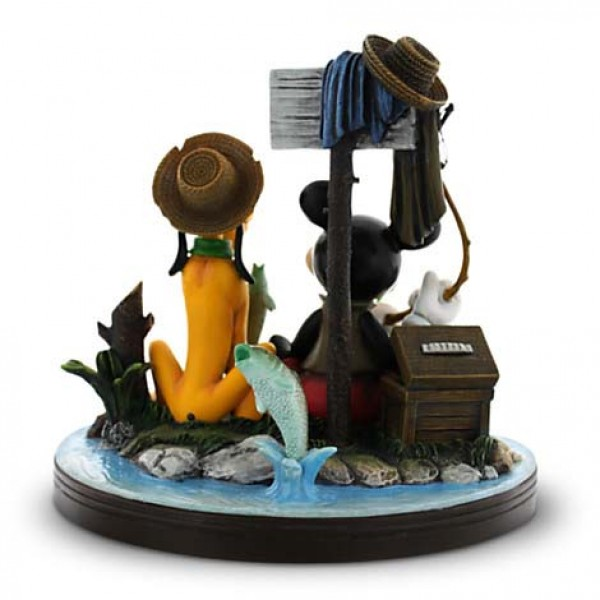"Mickey Mouse and Pluto ""Gone Fishing"" Figurine"