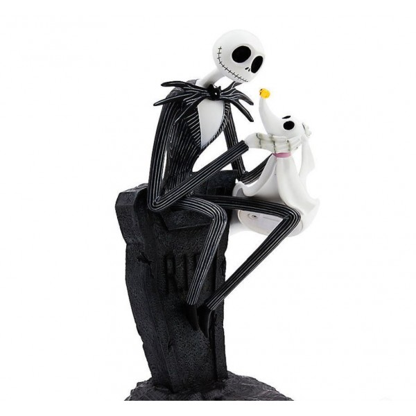 Disney Nightmare Before Christmas Jack Skellington and Zero Figure Light-Up
