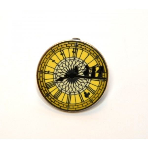 Peter Pan Clock Face Pin