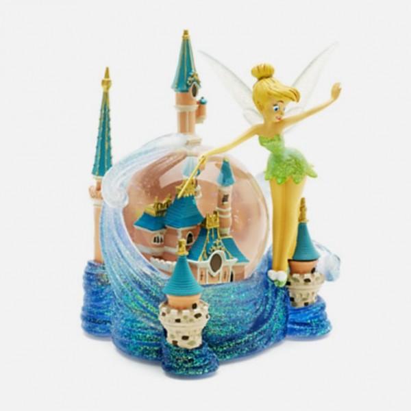 Tinker Bell & Cinderella Castle Snow Globe