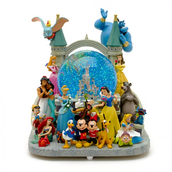 Disneyland Paris Mickey Mouse and Friends Deluxe Musical Snow Globe