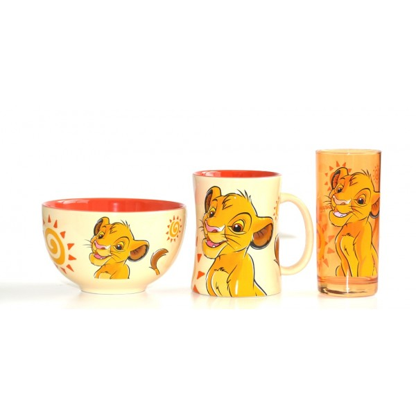 Disney Character Simba Breakfast Set