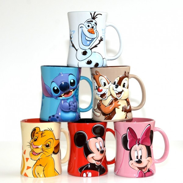 Portrait Coffee Mugs - Set of 6, Disneyland Paris