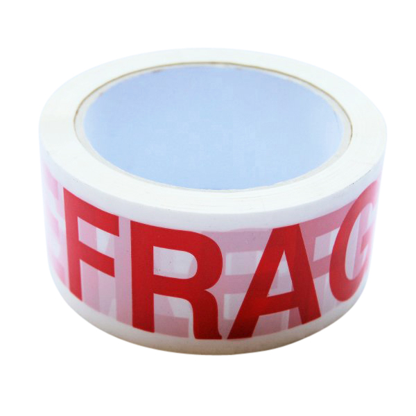 FRAGILE printed tape - 48mmx66m - pack of 6