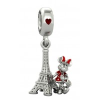 Minnie Mouse next to the Eiffel Tower Charm by Pandora