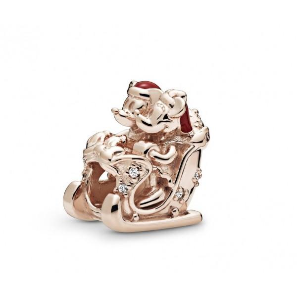Disney Minnie and Mickey Christmas Sleigh Charm by Pandora