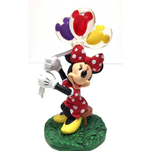 Minnie Mouse with Balloons Photo Picture Figurine Clip Frame