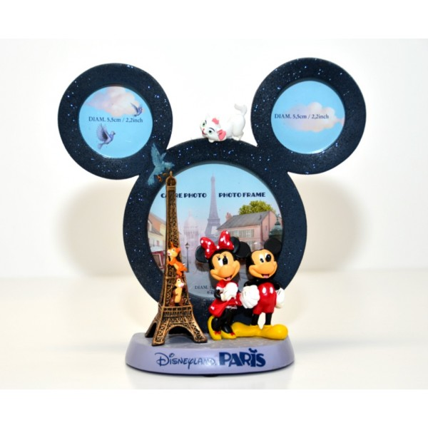 Mickey and Minnie in Paris Figurine Photo Frame, Disneyland Paris