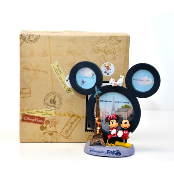 Mickey and Minnie in Paris Figurine Photo Frame, Disneyland Paris