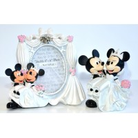 Disney Mickey and Minnie Wedding Photo Frame and Figurine Set