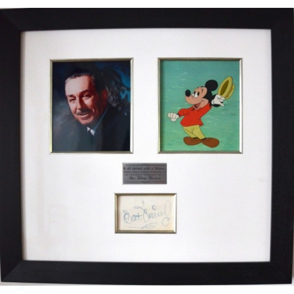 Walt Disney & Mickey Mouse Animation Cell