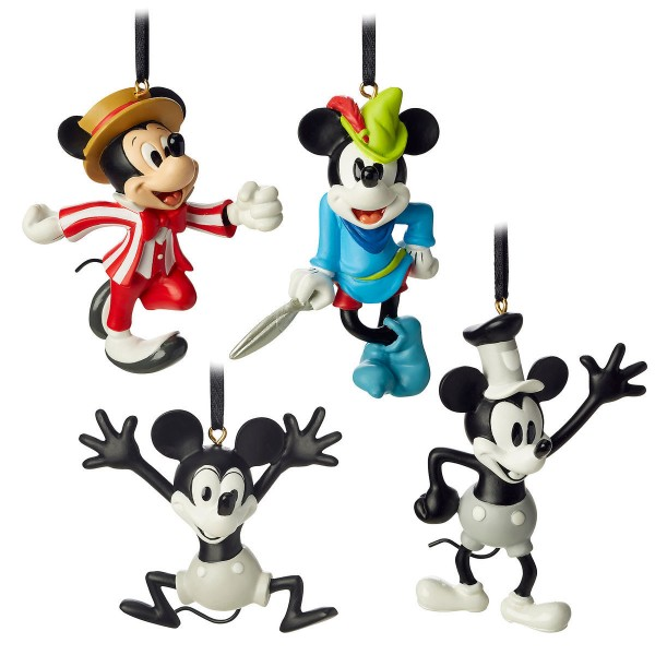 Mickey Mouse through the years Christmas ornament Box set, Disneyland Resort