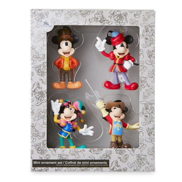 Mickey Mouse through the years Christmas ornament Box set, Disneyland Paris