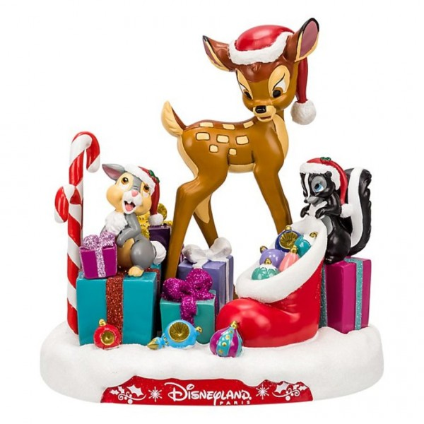 Disney Bambi and Friends Christmas Figurine, Disneyland Paris