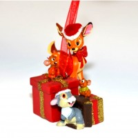 Bambi and friends Christmas Ornament
