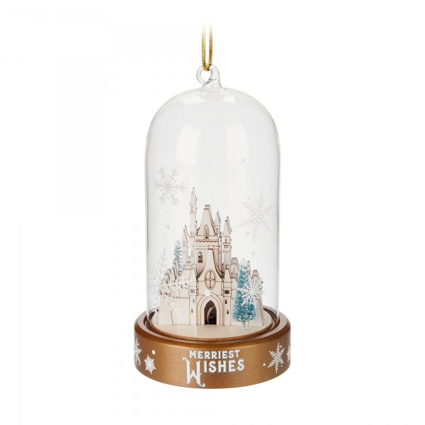 Disney Castle Light-Up Ornament, Disneyland Paris Original