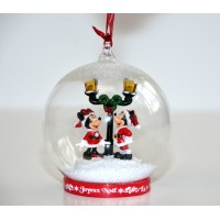 Mickey and Minnie Light-up Christmas Bauble
