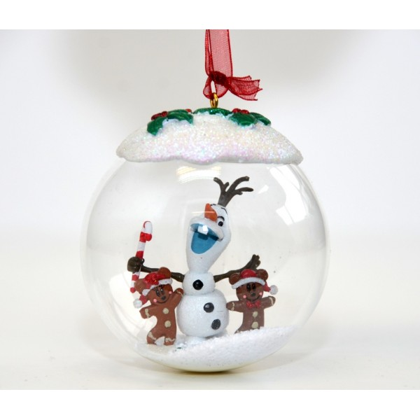 Olaf and Gingerbread Men Christmas Bauble, Disneyland Paris