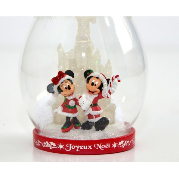 Mickey and Minnie Dome Light-up Christmas Tree Ornament