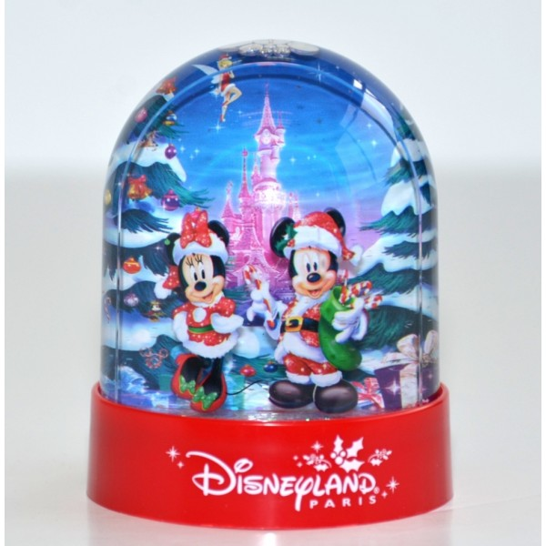 Disneyland Paris Christmas Plastic Snow Globe