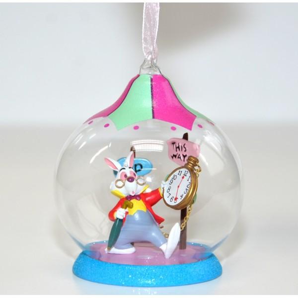 White Rabbit Character Alice In Wonderland Christmas Bauble
