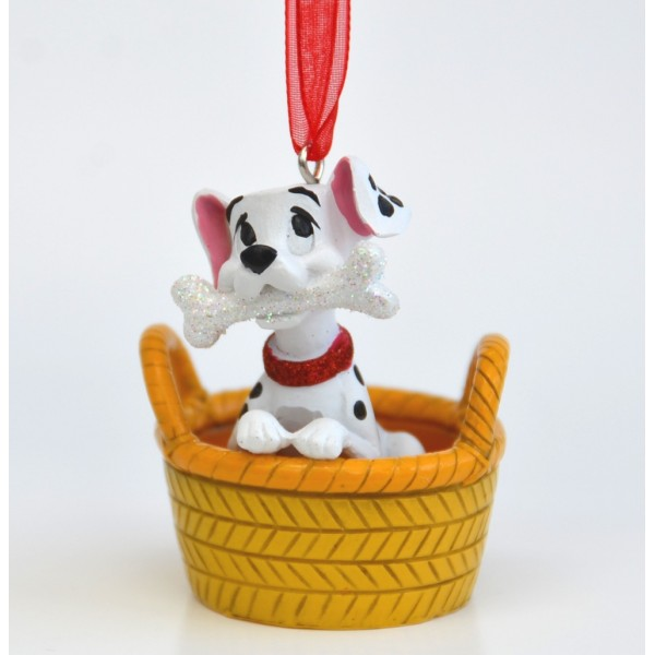 Disney Dalmatian in basket Christmas tree Decoration, Disneyland Paris