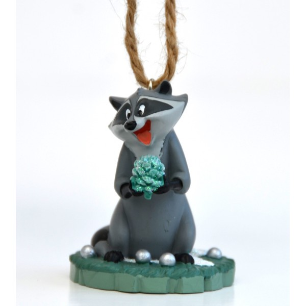 Disney Meeko Pocahontas Raccoon Christmas tree Decoration, Disneyland Paris