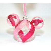 Disney Christmas Ornaments Minnie Ears in Pink