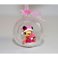 Disney Baby Minnie in a Christmas bauble