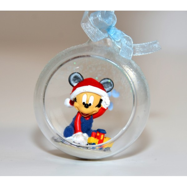 Disney Baby Mickey in a small Christmas bauble