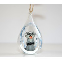 Pocahontas Raccoon Christmas open bauble