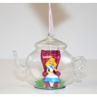 Alice Glass Teapot Christmas Ornament Decoration