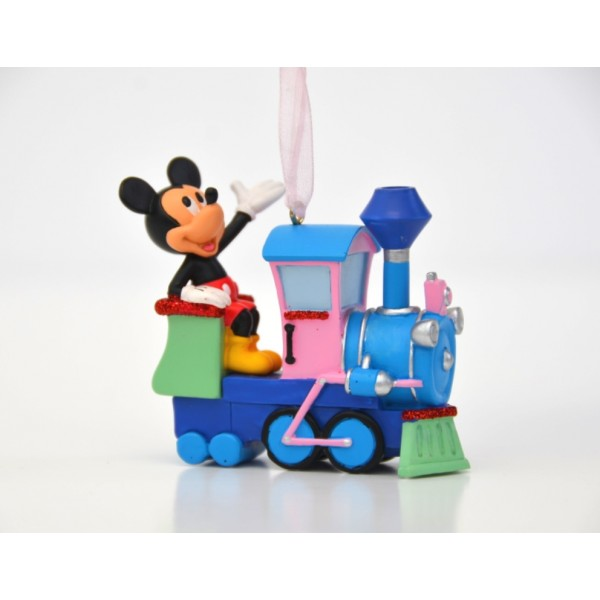 Mickey Mouse in train Ornament
