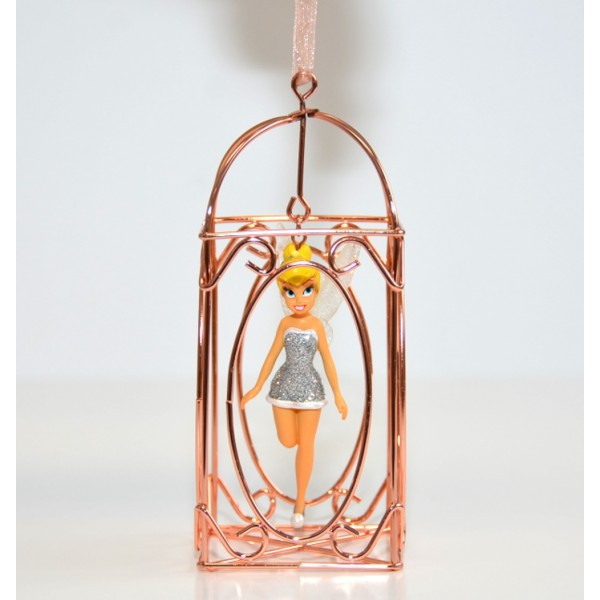 Disneyland Paris Tinker Bell in a Cage Christmas Ornament