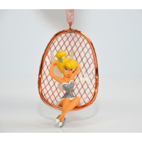 Disneyland Paris Tinker Bell in a Chair Christmas Ornament