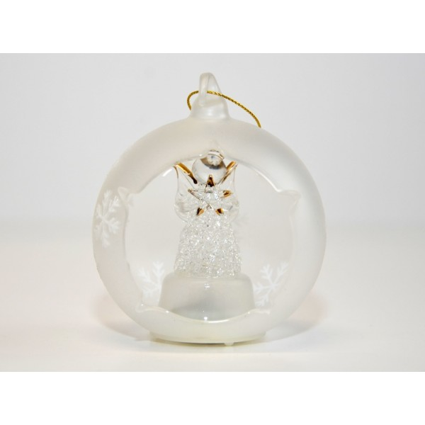 Angel Light-up Glass Ornament