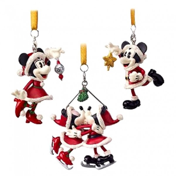 Disney Mickey and Minnie Christmas Ornament Set of 3 - Turn of the Century