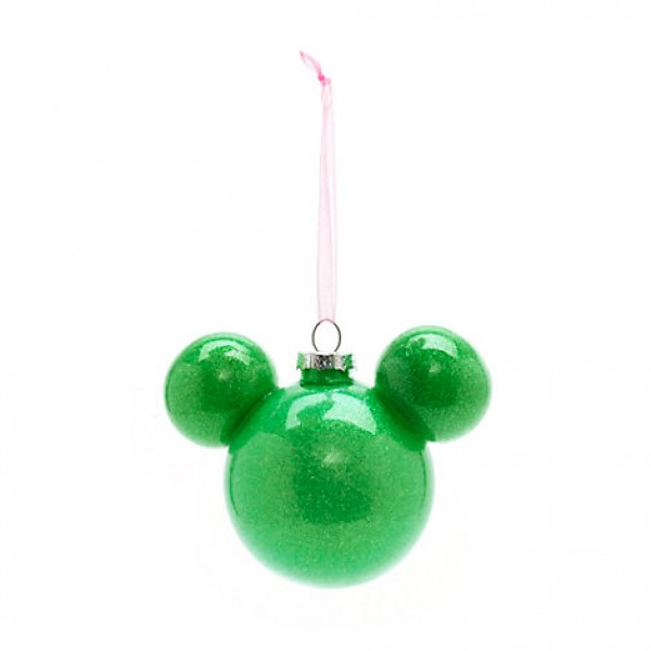 Disneyland Paris Mickey Mouse Green Bauble