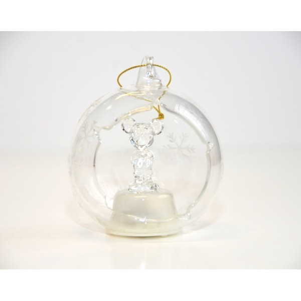 Mickey Light-up Glass Ornament