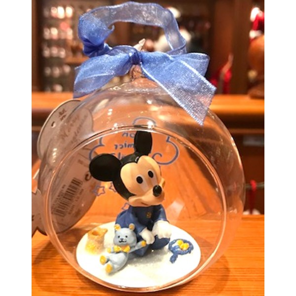 Disney Baby Mickey in a Christmas bauble