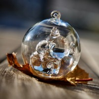 Dumbo Christmas bauble, Arribas Glass Collection